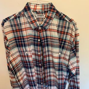 Express Red Plaid Flannel XL